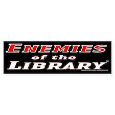 Enemies of the Library Bumper Bumper Sticker