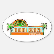 Miami Beach, Florida Oval Decal