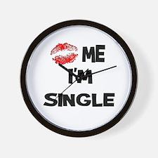 Kiss Me I'm Single Wall Clock