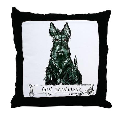 Got Scottish Terriers? Throw Pillow