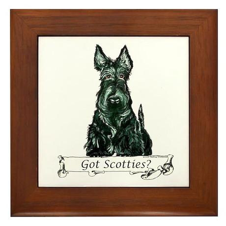 Got Scottish Terriers? Framed Tile