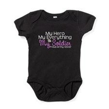 My Soldier Army Sister.png Baby Bodysuit