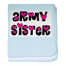 Army Sister Pink Hearts.jpg baby blanket