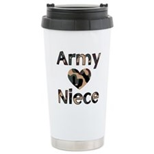 Army Niece Heart Camo.jpg Travel Mug