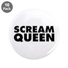 "Scream Queen 3.5"" Button (10 pack)"