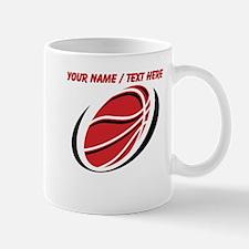 Custom Red Basketball Mugs