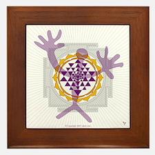 Healer/Sri Yantra Framed Tile