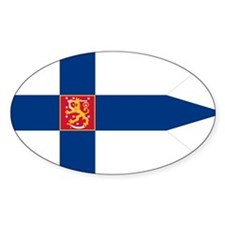 Naval Ensign of Finland Oval Decal