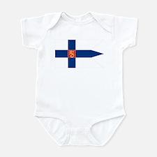 Naval Ensign of Finland Infant Bodysuit