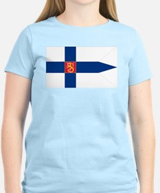 Naval Ensign of Finland Women's Pink T-Shirt