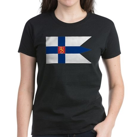 Naval Ensign of Finland Women's Dark T-Shirt