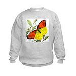 WILD ORANGE BUTTERFLY Kids Sweatshirt
