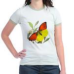 WILD ORANGE BUTTERFLY Jr. Ringer T-Shirt