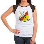 WILD ORANGE BUTTERFLY Women's Cap Sleeve T-Shirt