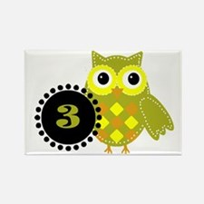 3 Years Old Adorable Owl Magnets