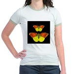 TWO BUTTERFLIES Jr. Ringer T-Shirt