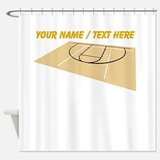 Custom Basketball Court Shower Curtain