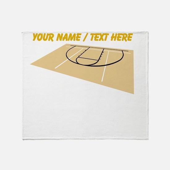 Custom Basketball Court Throw Blanket