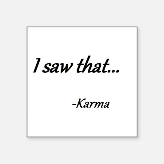 Karma Sticker