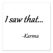 "Karma Square Car Magnet 3"" x 3"""