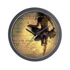 Dancing in the Rain Wall Clock