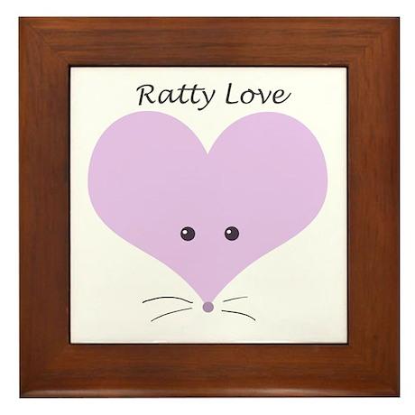 Ratty Love Framed Tile