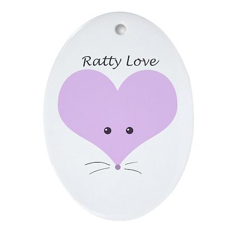 Ratty Love Oval Ornament