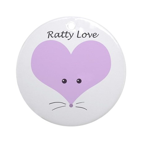 Ratty Love Ornament (Round)