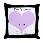 Ratty Love Throw Pillow
