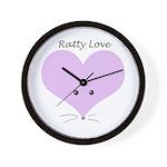 Ratty Love Wall Clock