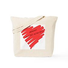 Akbash Love on 4 Legs Tote Bag