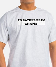 Rather be in GHANA Ash Grey T-Shirt