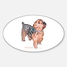 Silky Terrier Mister Innocent Oval Decal