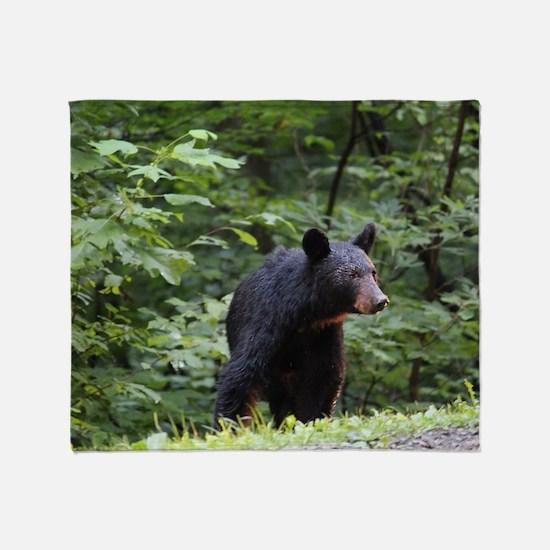 Smoky Mountain Black Bear Throw Blanket