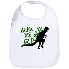 Dinosaur Hear Me Rawr Bib
