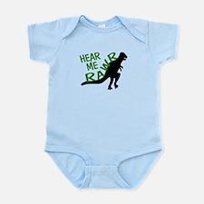 Dinosaur Hear Me Rawr Infant Bodysuit