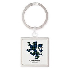 Lion - Campbell of Lochawe Square Keychain