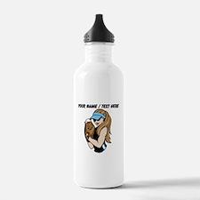 Custom Softball Pitcher Sports Water Bottle