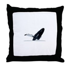 Humpback Whale (breaching) Throw Pillow