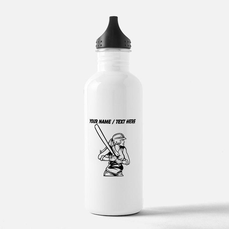 Custom Softball Batter Sports Water Bottle