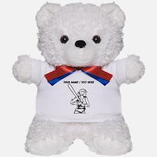 Custom Softball Batter Teddy Bear