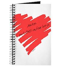 Akita Love on 4 Legs Journal