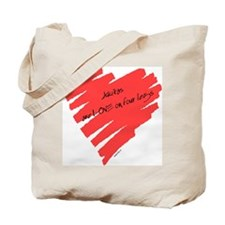 Akita Love on 4 Legs Tote Bag
