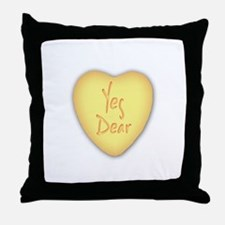 Yes Dear Candy Cane Throw Pillow