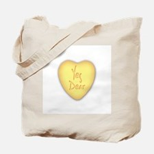 Yes Dear Candy Cane Tote Bag