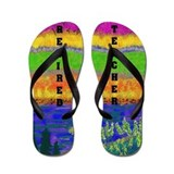 Art retirement Flip Flops