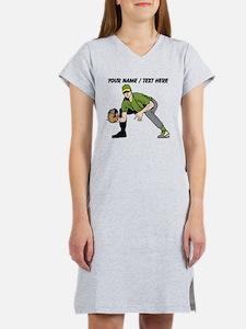 Custom First Baseman Women's Nightshirt