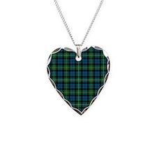 Tartan - Campbell of Loudoun Necklace Heart Charm