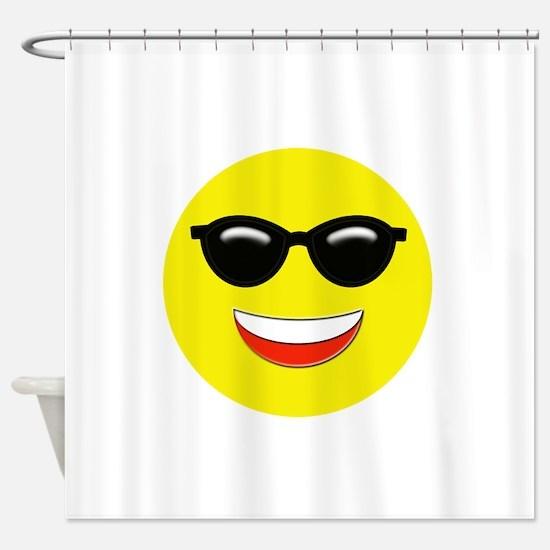 Cool Emoji Shower Curtain