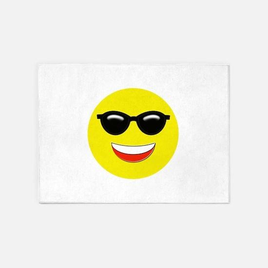Cool Emoji 5'x7'Area Rug